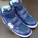 足底板対応靴でも履きやすい履かせやすい補正ハイカットシューズ